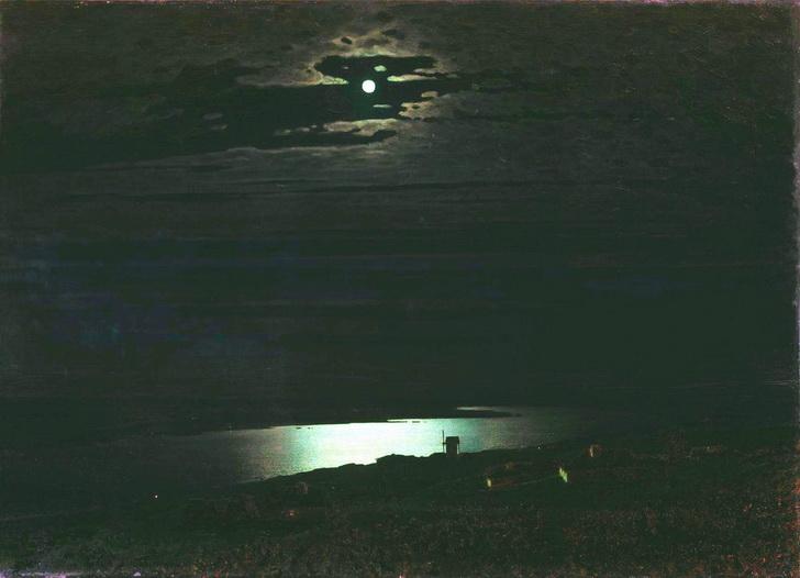 Лунная ночь на Днепре, 1880 год