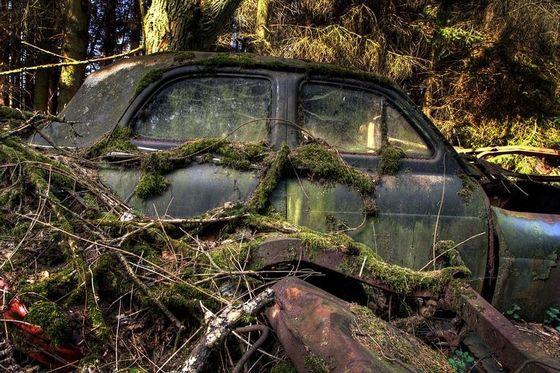Старые кладбища автомобилей в Бельгии все-таки ликвидировали