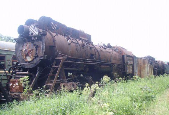 Кладбища паровозов есть в нескольких российских городах