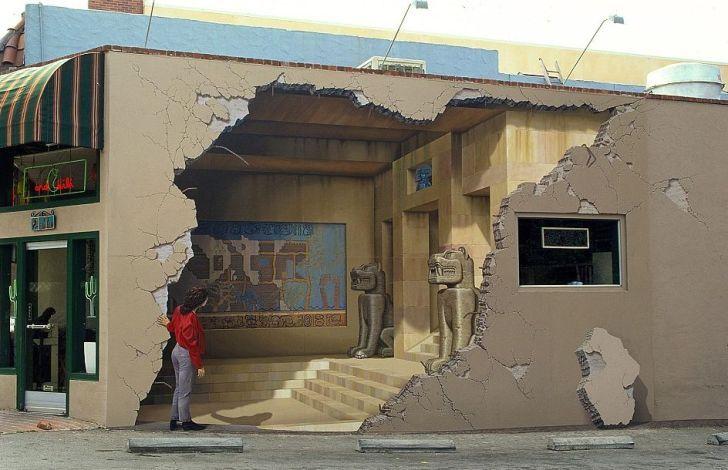 Глазам не верю. 3D-рисунки на стенах, от которых невозможно оторваться