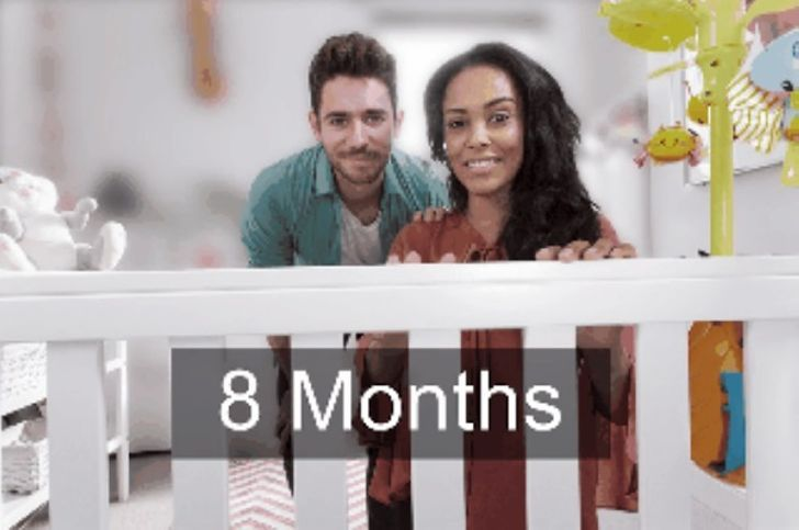 Вот как на самом деле видит новорожденный ребенок в первый год своей жизни.