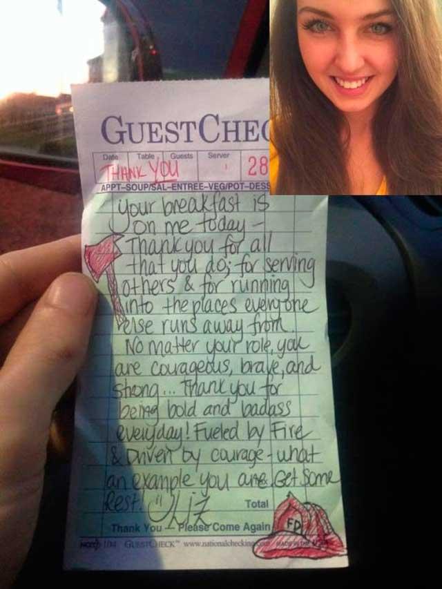 Эта официантка написала что-то на чеке. Когда она открыла Facebook через 2 часа, чуть не упала в обморок…