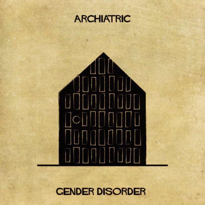 Художник представил психические расстройства в виде архитектурных строений. Вот что у него получилось