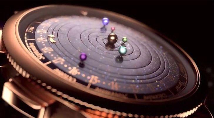 Инновационные наручные часы «Полуночный Планетариум»