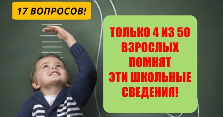 Только 4 из 50 взрослых проходят этот тест для школьников!