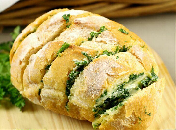 Сырный, луковый, чесночный - 20 минут и домашний хлеб готов
