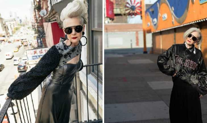 63-летняя женщина бомбит мир моды