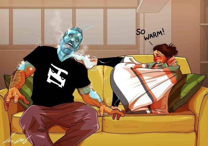 Мужчина женился - остроумные комиксы о семейной жизни от художника из Тель-Авива