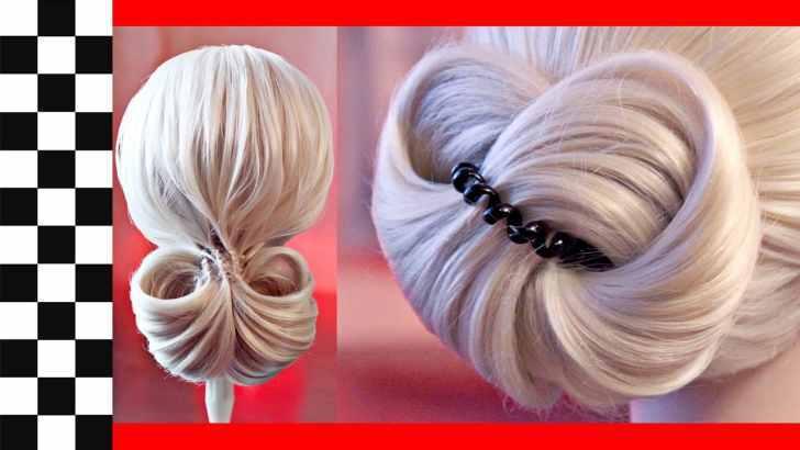 Модные прически с резинками 2017 женские на средние волосы