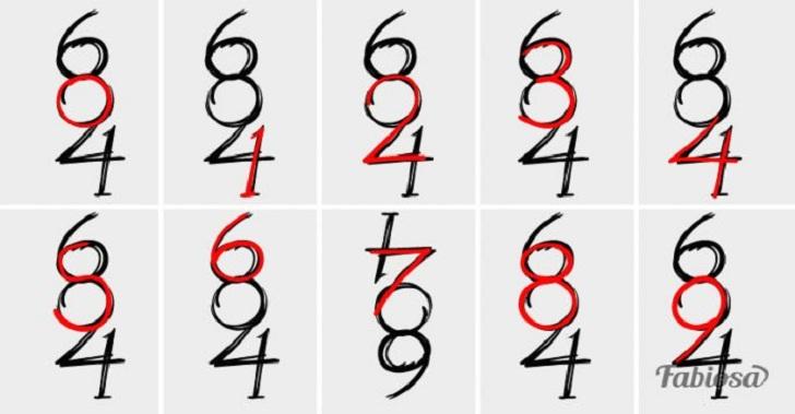 Проверим внимательность - Кто правильно назовёт количество цифр на этой картинке