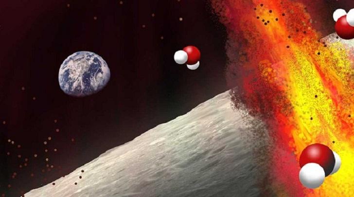 Под внешним безжизненным слоем Луны найдены запасы воды