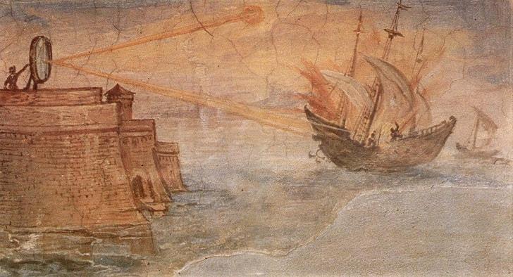 Архимед и его «Лучи смерти»
