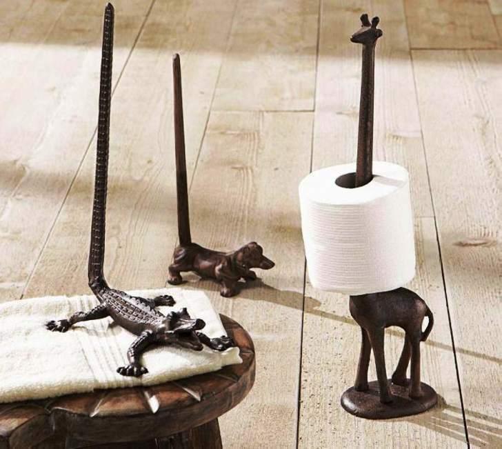 Смешные креативные держатели туалетной бумаги