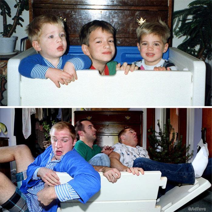 Дружба длинною в жизнь - дурацкие и смешные фотографии с друзьями