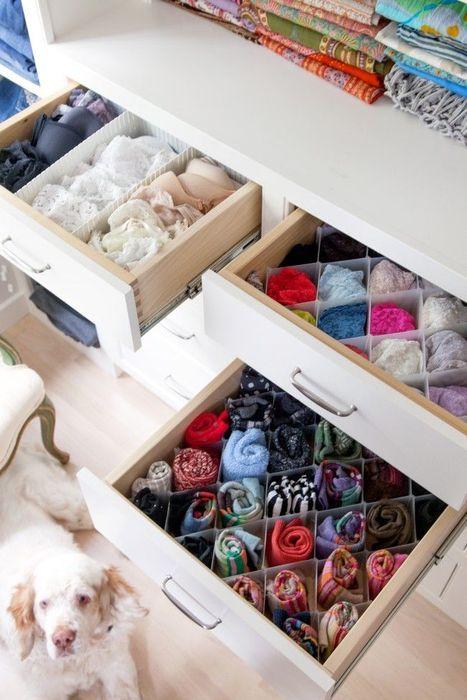 Как сложить все вещи в шкафу