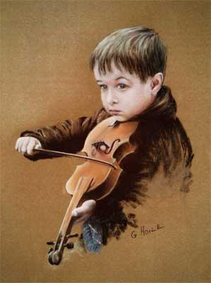 Маленький герой и его скрипка