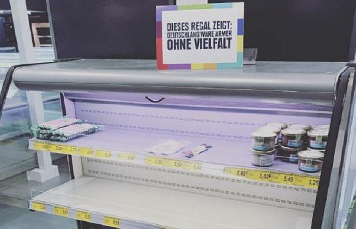 Супермаркет убирает с полок всю иностранную еду
