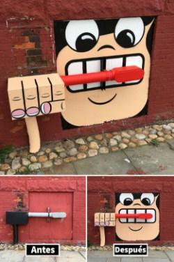 Художник оживляет скучные улицы
