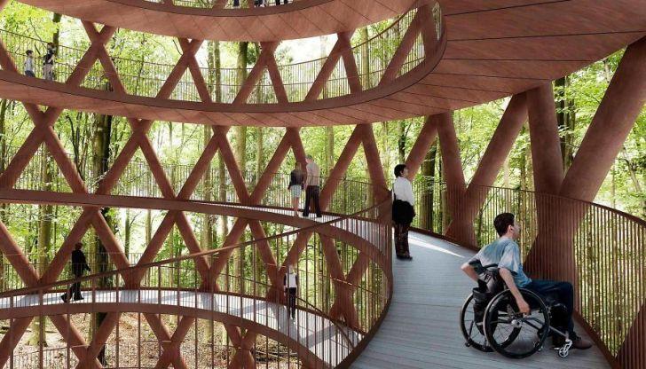 Невероятная экологическая дизайнерская тропа через лес
