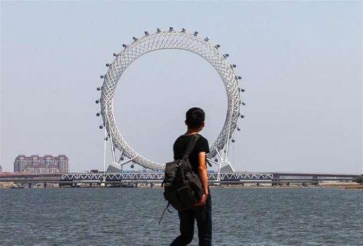 Новое футуристическое сооружение в Китае