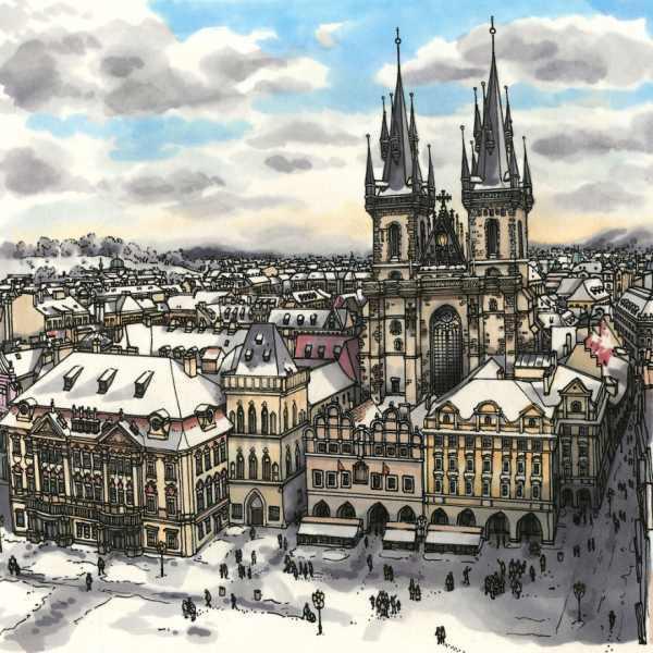 Зарисовки прекрасных городов мира