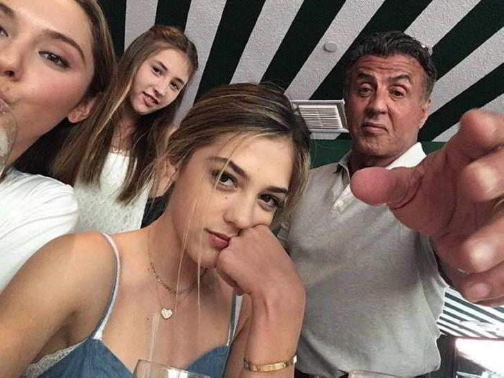 Сильвестр Сталлоне и его дочери