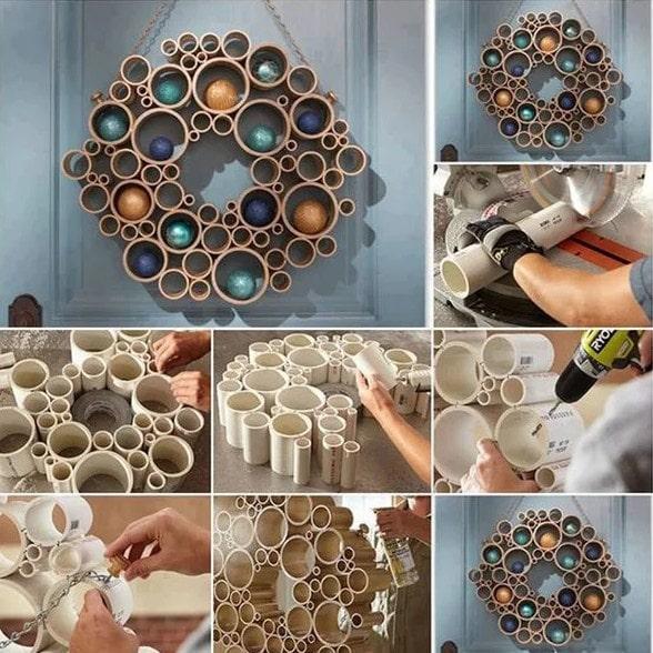 Как использовать для декора обычные пластиковые трубы